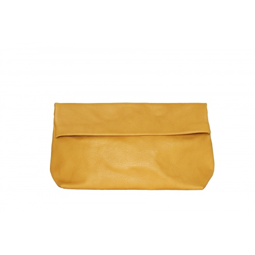 Large Mustard Leather Purse