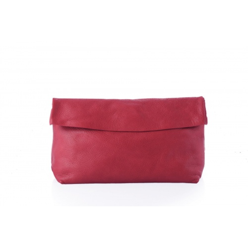 Acheter Large Red Leather Clutch
