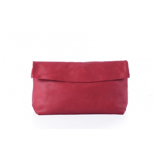 Large Red Leather Clutch