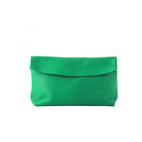 Acheter Large Green Leather Clutch