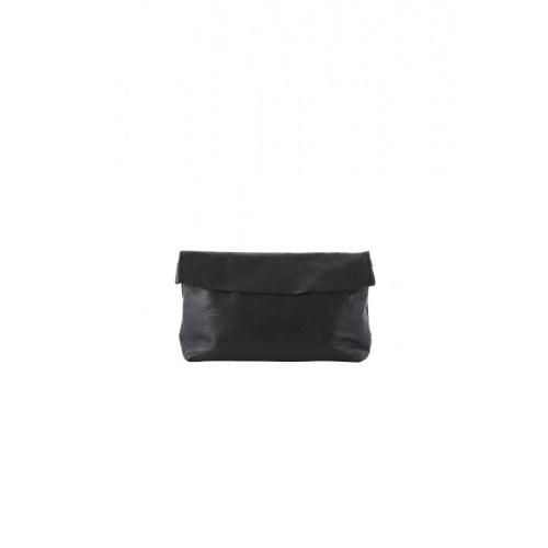 Medium Black Leather Purse