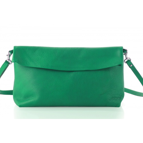 Acheter Green Leather Shoulder Bag