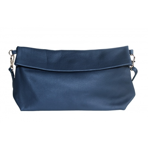 Acheter Navy Leather Shoulder Bag