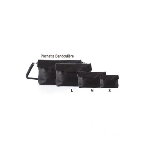Ripauste: Pochette Large Noire | Bags,Bags > Clutches -  Hiphunters Shop