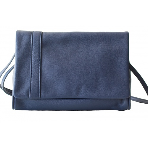 L'Insolent : Navy Blue Leather Bag