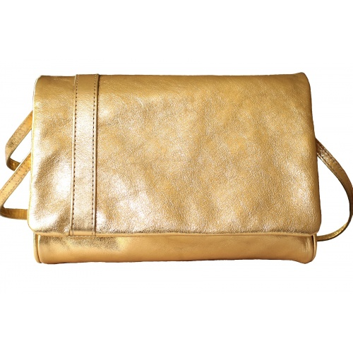 Acheter L'Insolent : Golden Leather Bag