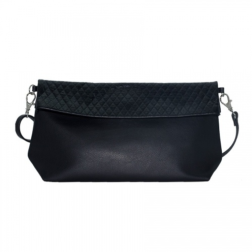 Black Suede & Croco Shoulder Bag