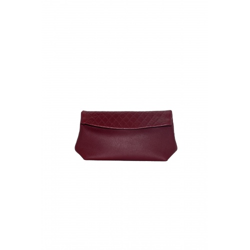 Pochette Medium Matelassée Bordeaux