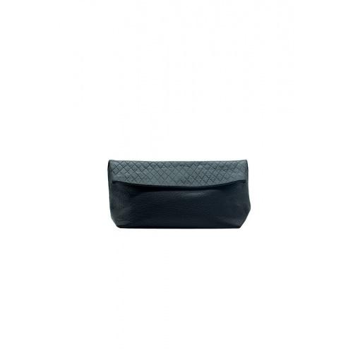 Acheter Medium Black Suede & Croco Leather Purse