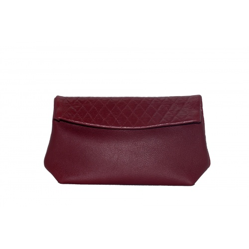 Acheter Large Burgundy Leather Clutch