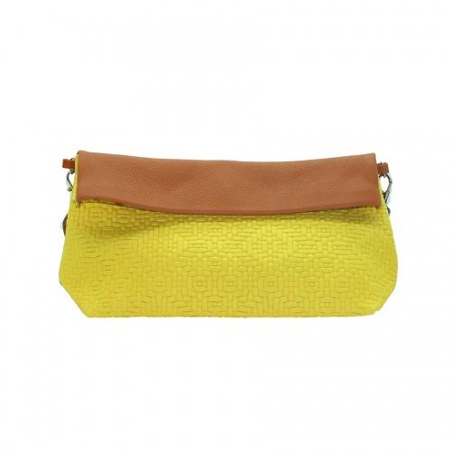 petit sac tressé jaune