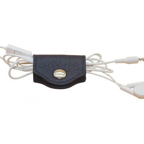 porte écouteurs bleu marine