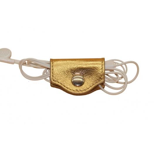 porte écouteurs doré