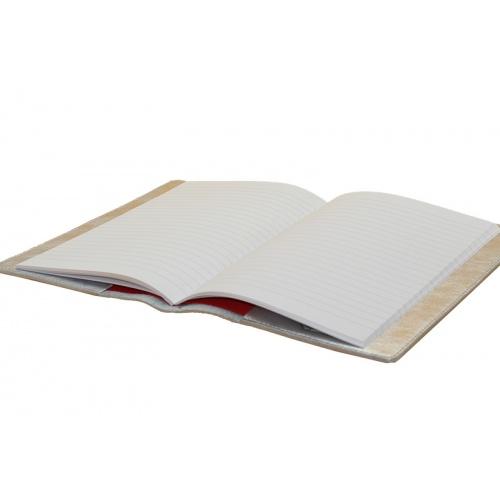 protège cahier argenté