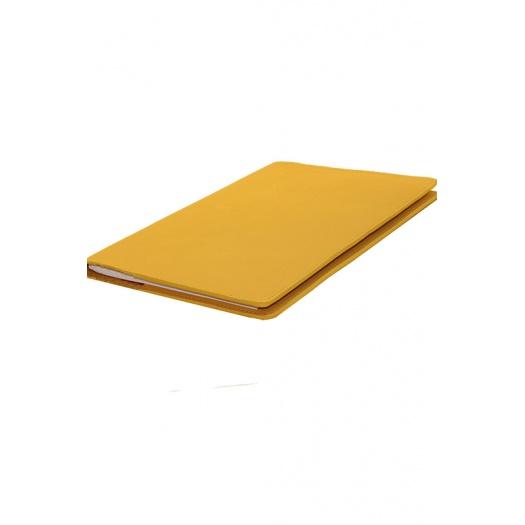 porte agenda jaune moutarde