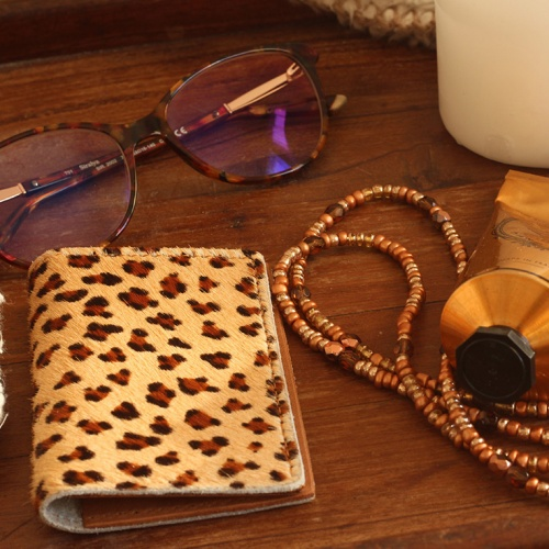 porte carte leopard