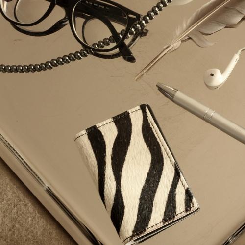 porte cartes zebre