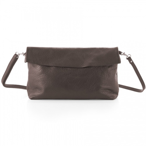 Taupe Leather Shoulder Bag