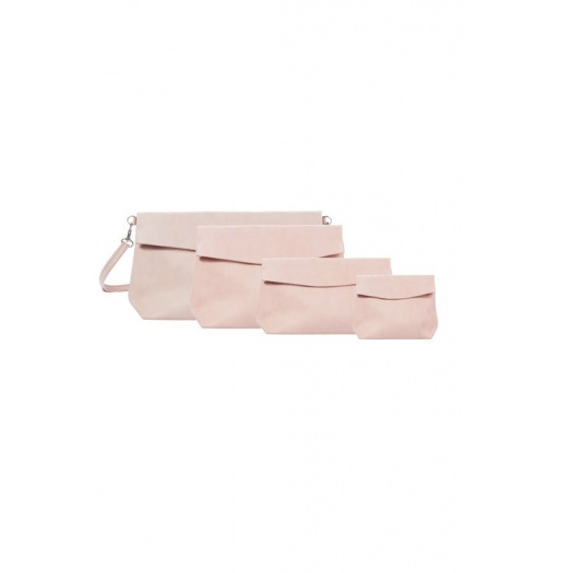 Ripauste: Pochette Bandoulière Rose Poudré | Bags,Bags > Handbags -  Hiphunters Shop
