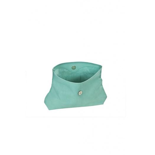 Ripauste: Pochette Medium Vert D\'Eau Cuir Perforé | Bags,Bags > Clutches -  Hiphunters Shop