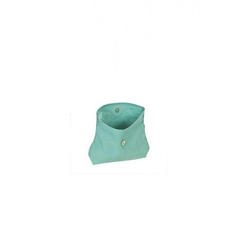Pochette Small Vert d'Eau en Cuir Perforé