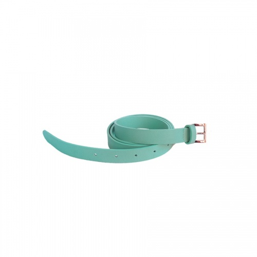 Perforated Light Green Leather Belt