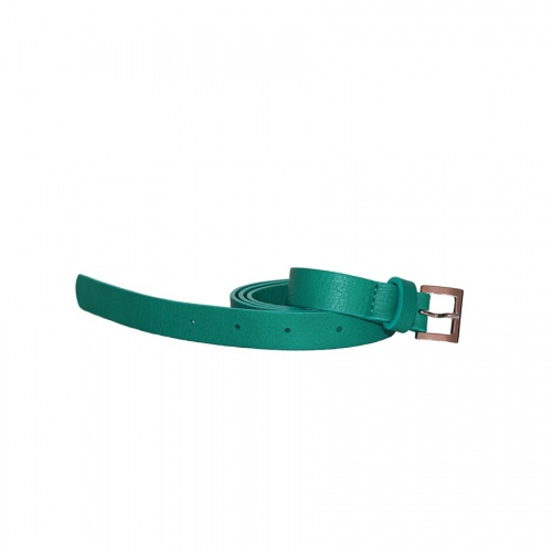 Peacock Blue Leather Belt