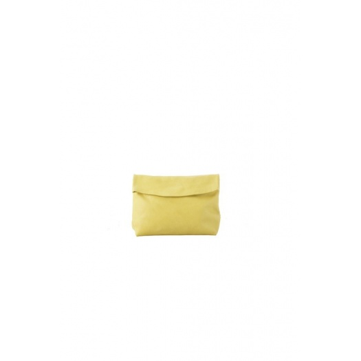 Small Yellow Leather Purse