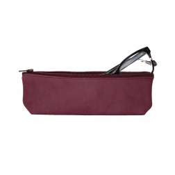 Purple Leather Pencil Case