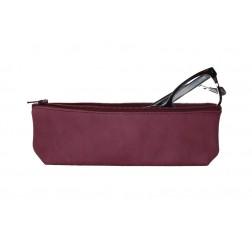 Purple Leather Pencil Case