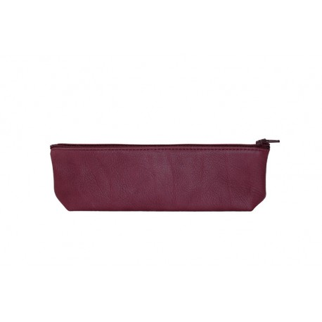 Ripauste: Trousse en Cuir Prune | Accessories,Accessories > Wash Bags -  Hiphunters Shop
