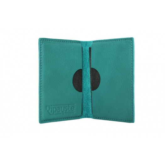 Ripauste: Porte Cartes Bleu Canard en Cuir | Accessories,Accessories > Wallets -  Hiphunters Shop