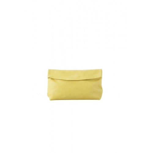 Medium Yellow Leather Purse