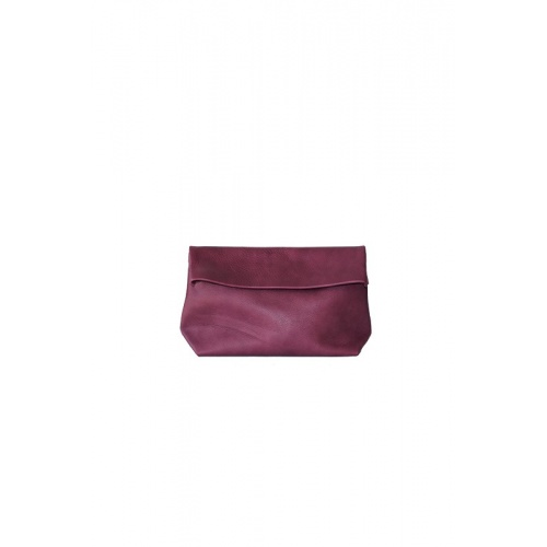 Medium Purple Leather Purse