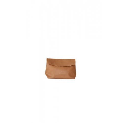 Small Camel Leather Purse