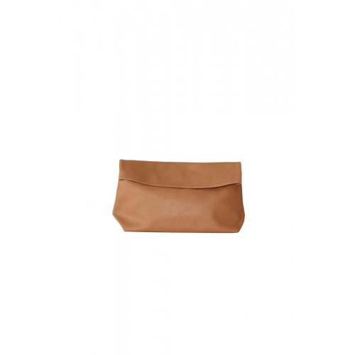 Medium Camel Leather Purse