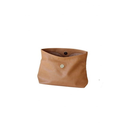 Ripauste: Pochette Medium Camel | Bags,Bags > Clutches -  Hiphunters Shop