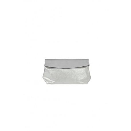 Pochette Medium Gris Clair / Paillettes
