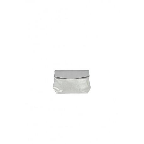 Pochette Small Gris Clair / Paillettes
