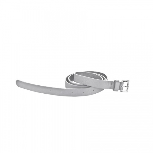 Light Grey Leather Belt