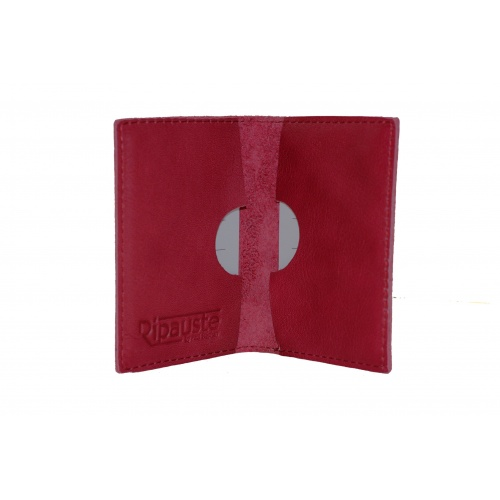 Acheter Red Leather Card Holder