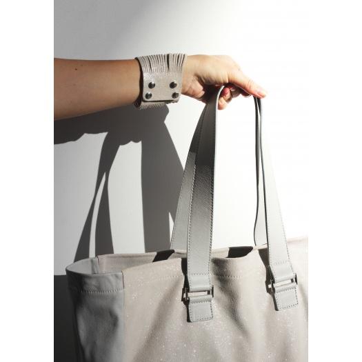 Ripauste: Sac Cabas Gris Clair / Paillettes | Bags,Bags > Handbags -  Hiphunters Shop