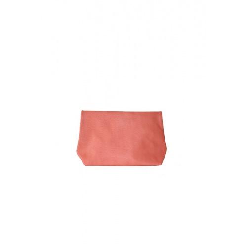 Pochette Medium Corail Cuir Perforé