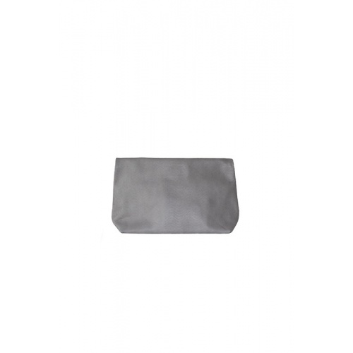 Pochette Medium Lazy Grey Cuir Perforé