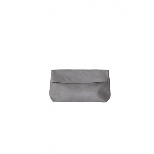 Medium Perforated Lazy Grey Leather Purse