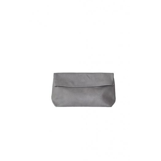 Pochette Medium Lazy Grey Cuir Perforé