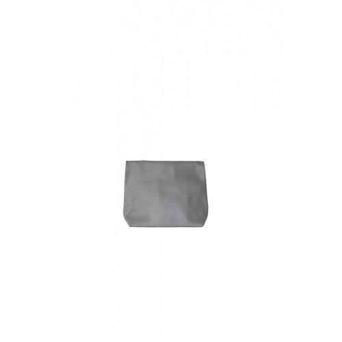 Pochette Small Lazy Grey en Cuir Perforé