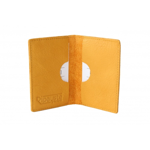 Mustard Leather Card Holder