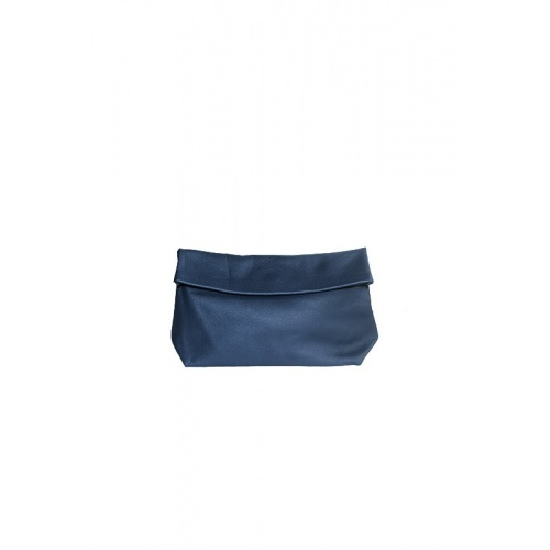 Medium Navy Leather Purse