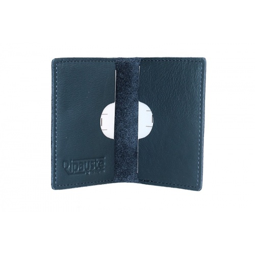 Navy Leather Card Holder